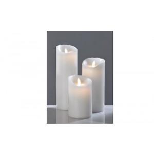 LED-Kerze, Elfenbein, glatt, 23 cm