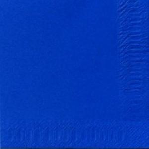 Serviette, Zelltuch, dunkelblau, 24 x 24 cm