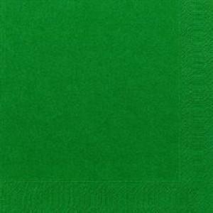 Serviette, Zelltuch, jägergrün, 33 x 33 cm