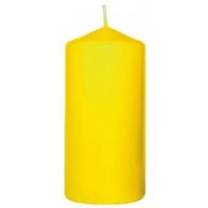 Stumpenkerze, gelb, 10 cm