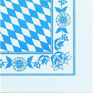 Serviette, Zelltuch, Bayrische Raute, 33 x 33 cm