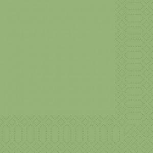 Serviette, Zelltuch, herbal green, 33 x 33 cm