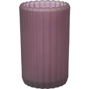 Kerzenglas Patio, gefrostet, plum