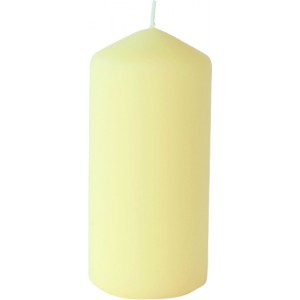 Stumpenkerze matt, cream, 15 cm
