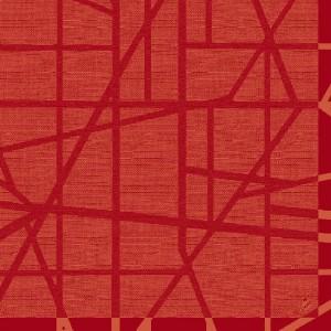 Serviette, Dunilin, Maze mandarin, 40 x 40 cm