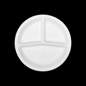 Platte rund 3-geteilt, Ø = 25 cm, Systemgeschirr