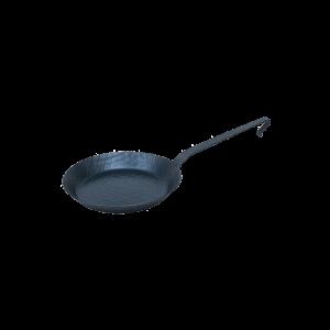 Omelettpfanne mit Hakenstiel Ø = 32 cm, geschmiedet