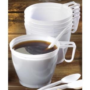 Einweg-Tasse mit Henkel, Inhalt: 0,18 l