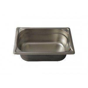 GN-Behälter 1/4-100, Blanco, Edelstahl, ohne Griffe