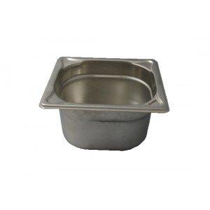 GN-Behälter 1/6-100, Blanco, Edelstahl, ohne Griffe