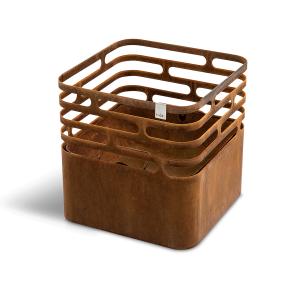 Feuerkorb rostig, Cube