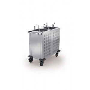 Tellerspender, TS-K2 18-33, mit 2 quadratischen Tellerröhren ohne Deckel