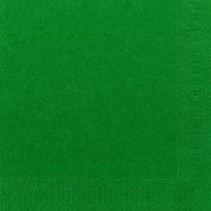 Serviette, Zelltuch, jägergrün, 24 x 24 cm