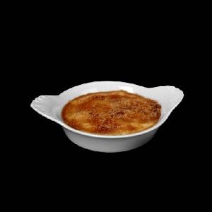 Eierpfännchen rund, Ø = 12 cm, Crème Brûlée