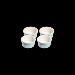 Ragoutschälchen rund, Ø = 10 cm, 4er Set, Faro, hellblau