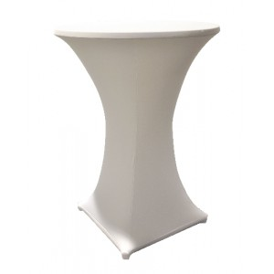 Tischplattenbezug für Stehtische, creme