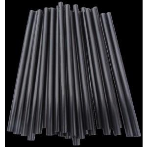 Jumbo-Trinkhalm, starr, schwarz, Ø = 8 mm