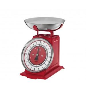 Küchenwaage, Nostalgie, rot, 2 kg