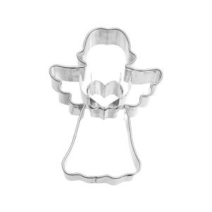 Ausstecher Engel mit Herz, Ø = 7 cm