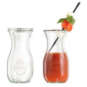 Saftflasche mit Glasdeckel, Inhalt: 290 ml