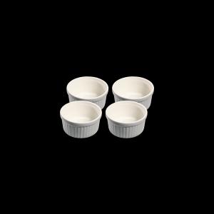 Ragoutschälchen rund, Ø = 10 cm, 4er Set, Faro, hellgrau