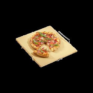 Pizzastein mit Gestell, Länge: 40 cm, BBQ