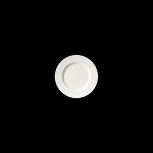 Teller flach, Ø = 16 cm, Fine Bone China Classic, weiß