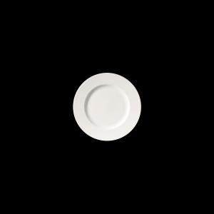 Teller flach, Ø = 21 cm, Fine Bone China Classic, weiß