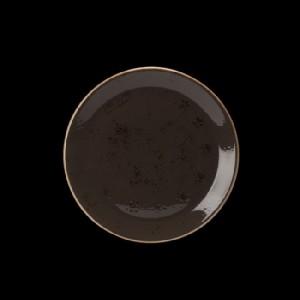 Teller flach, Ø = 20,3 cm, Craft, grau