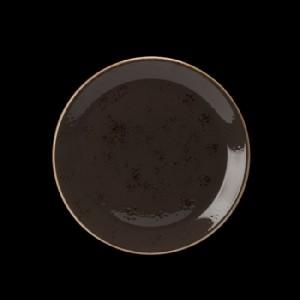 Teller flach, Ø = 25,3 cm, Craft, grau