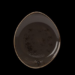 Teller flach, Ø = 25 cm, Craft, grau