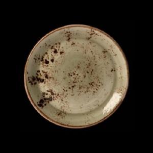 Teller flach, Ø = 25,3 cm, Craft, grün