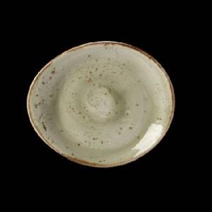 Teller flach, Ø = 15,5 cm, Craft, grün