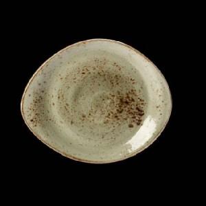 Teller flach, Ø = 25 cm, Craft, grün