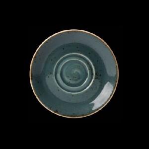 Cappuccino-Untere, Ø = 16,5 cm, Craft, blau