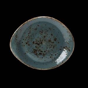 Teller flach, Ø = 25 cm, Craft, blau