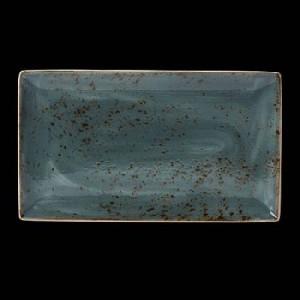 Platte rechteckig, Länge: 33 cm, Craft, blau