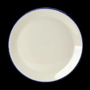 Teller flach, coup, Ø = 25,3 cm, Blue Dapple