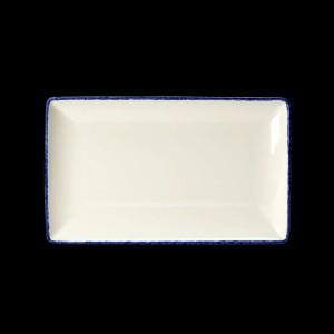 Platte rechteckig, Länge: 27 cm, Blue Dapple