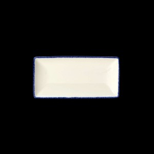 Platte rechteckig, Länge: 20 cm, Blue Dapple