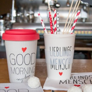 Travel Mug Bamboo, Good Morning Love