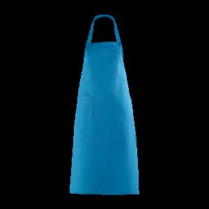 Latzschürze, türkis, mit Seitentasche