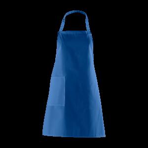 Latzschürze, königsblau, mit Seitentasche