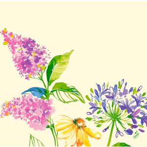 Serviette, Dunisoft, Sweet Spring, 40 x 40 cm