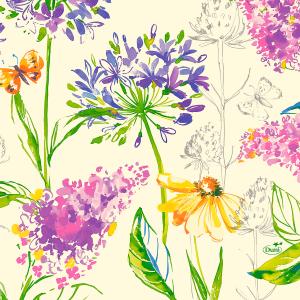 Serviette, Zelltuch, Sweet Spring, 33 x 33 cm
