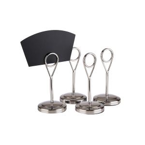 Kartenhalter, 4er Set, Höhe: 105 mm, stainless steel