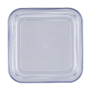 Kunststoffdeckel quadratisch, hoch, Länge: 12 cm