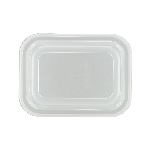 Kunststoffdeckel rechteckig, hoch, Länge: 11 cm