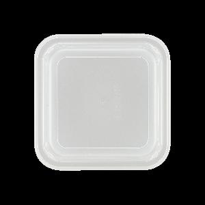 Kunststoffdeckel quadratisch, hoch, Länge: 11 cm