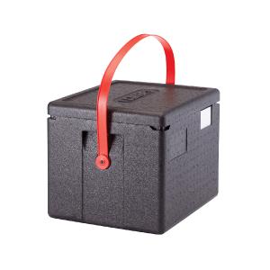 Cam GoBox, Toploader mit rotem Tragegurt